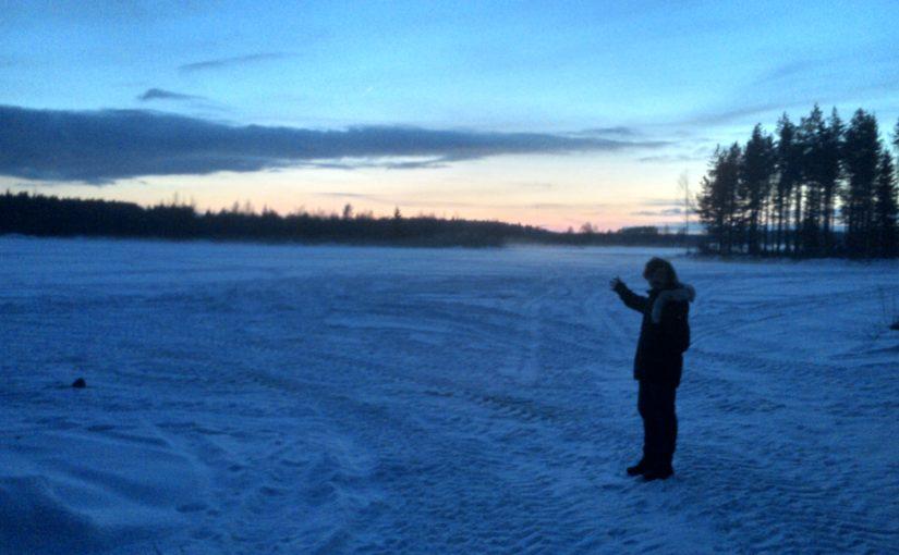 Coucher de soleil arctique